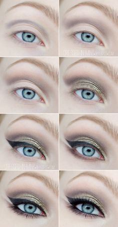 Dressed in Mint: make up. - Sylwestrowo / Studniówkowo - Step by Step (part1)
