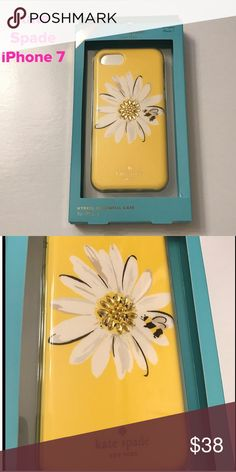 "NWT Kate Spade ""Daisy"" iPhone 7 Case Brand New!!!  Super cute Daisy with a little ""bling"". kate spade Accessories Phone Cases"