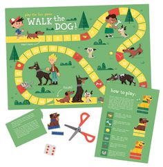 "DIY board game ""Walk the Dog"" by Eva Galesloot (skwirrol)"