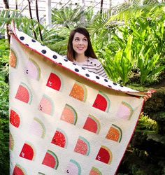 Watermelon quilt by Suzyquilts.com  I love the watermelon idea! Totally cute!