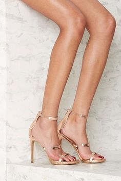 Nasty Gal In for the Thrill Strappy Heel - Rose Gold Metallic   Shop Shoes at Nasty Gal!