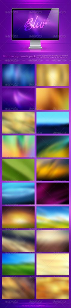 Blur Backgrounds Pack 2 - GraphicRiver Item for Sale