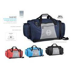 Slazenger Basejump Supreme Sports Bag Description & ripstop ( w ) x ( d ) x 30 ( h ) front zippered pocket side zippered compartment adjustable, removable shoulder strap