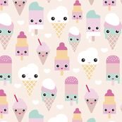 Colorful sweet summer ice cream popsicle sugar pastel kawaii illustration by littlesmilemakers