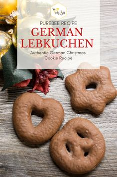 Authentic German Lebkuchen Recipe (Christmas Cookies) - All Recipes Sugar Cookie Recipe Easy, Healthy Cookie Recipes, Oatmeal Cookie Recipes, Chocolate Cookie Recipes, Peanut Butter Cookie Recipe, Easy Cake Recipes, German Christmas Cookies, German Cookies, Soft Gingerbread Cookies
