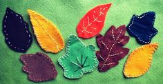 autumn leaf designs with a printable leaf shape sheet.