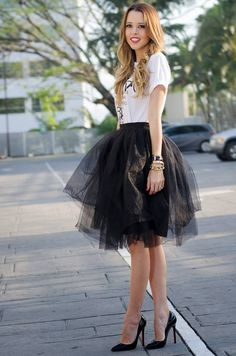Monica Arguedas Black Tulle Tutu Skirt
