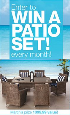Win a Patio Set Every Month from Home Outfitters