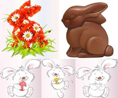 Chocolate and fun Easter Bunny templates vector. We have over 10,000+ pictures. All images on the site vectorpicfree.com free for download and ready for print.