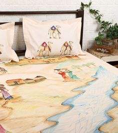 Peach Cotton Double Bedsheet With 2 Pillow Covers #indianroots #homedecor #bedsheet #pillowcover #cotton