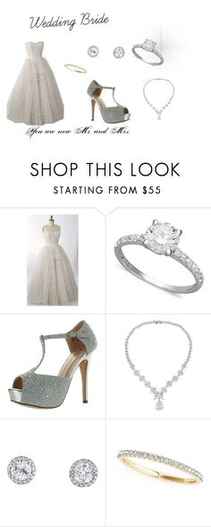 """""""Wedding Bride"""" by rmensah on Polyvore featuring R.H. Macy's & Co., De Blossom, Icz Stonez and Allurez"""
