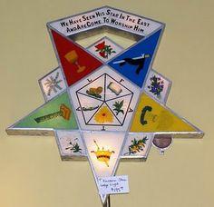 Eastern Star lighted medalian