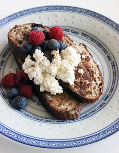 Celebrity trainer Harley Pasternak's recipe makeover for whole-grain french toast with ricotta cheese.