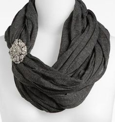 Who doesn't like a little bling? Accessorize your scarf with a pretty pin or brooch. Read the post for additional inspiration.
