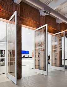 Giant pivot doors. worked with Boszko & Verity - Power Plant with KPMG