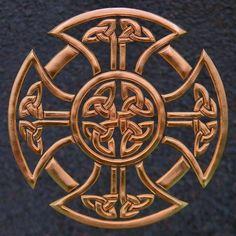 Deep Copper Celtic Cross by =DarrianAshoka