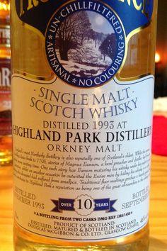 Highland Park 1993/2003 10yo 46% Whisky Bar, Malt Whisky, Scotch Whiskey, Bourbon Whiskey, Rum, Whiskey Brands, Japanese Whisky, Highlands Scotland, Hooch