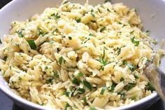 parmesan and parsley orzo... mmm by lucinda