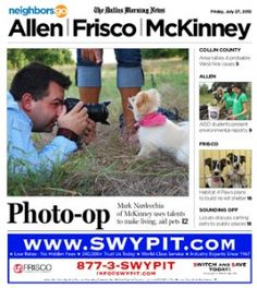 07/27 Pets and Their People: Mark Nardecchia of McKinney photographs abandoned animals to help themfind homes.