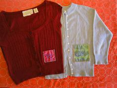 A Patch Pocket Sweater Refashion I am so in love with this idea I am going to put it on all my clothes!