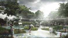 Architecture studio Tredje Natur is redesigning a Copenhagen neighbourhood to better handle the floods expected as climate change leads to fewer but heavier rain storms.