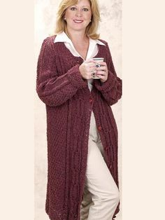 Free Pattern: Moss Rose Knitted Coat