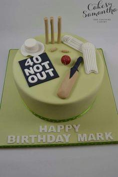 Cricket Birthday Cake, Cricket Theme Cake, Sports Birthday Cakes, 40th Birthday Cakes For Men, 90th Birthday, Birthday Shirts, 30 Cake, Sport Cakes, Cake Bars