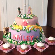 Tangled Cake!!