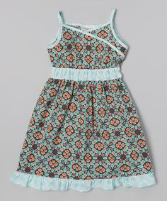Another great find on #zulily! Forest Green Woven Dress - Toddler & Girls by Hippo Hula #zulilyfinds