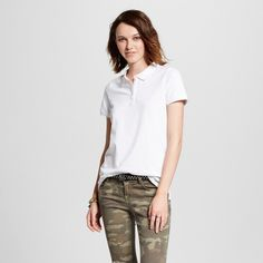 Women's Polo Shirt White Xxl - Mossimo Supply Co.