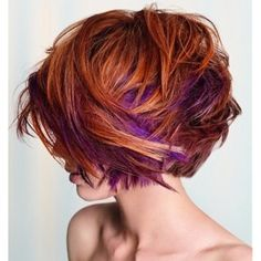 like the fun hairdo and the colors are cool too, but I don't think I could pull off the colors.