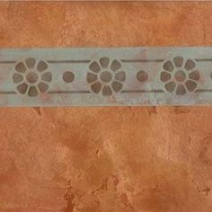 Frame a wall, door, ceiling, floor, or painted furniture with our Petite Floral Pompeii Border Stencils. Add rustic or classic Italian design to your home decor