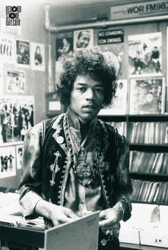 Record Store Day unveils 2013 Record Store Day official poster of Jimi Hendrix. Only 5,000 will be available.