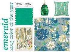 We're loving Emerald, the Pantone color of the year! Read more on Style Spotters: http://www.bhg.com/blogs/better-homes-and-gardens-style-blog/2012/12/14/2013-pantone-color-of-the-year/