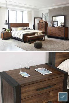 Jonathan and Drew Scott dreamed up the perfect, classic bedroom collection. Warm wood tones accent a clean, industrial design. Handsome and functional, nightstands charge your devices with built-in USB ports. Explore the Scott Living collection available on Lowes.com.