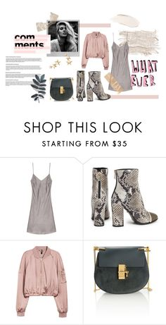 """""""Whatever, Babe"""" by chloeaylaa ❤ liked on Polyvore featuring Polaroid, Just Cavalli, Chloé and Kenneth Jay Lane"""