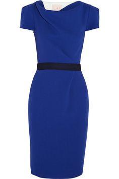 Roksanda Ilincic Ayden color-block wool-blend crepe dress