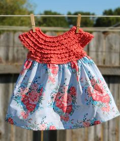 I am so excited to show you the latest crochet project I've been working on. I crocheted my very first baby dress! It might just be o...