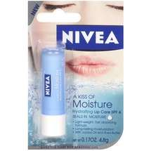 Nivea Moisturizing Lip Balm... I actually like the regular kind in the dark blue tube best, but they're all fabulous!