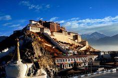 Tibet, Potala-Palast in Lhasa, wo einst der Dalai Lama wohnte und regierte