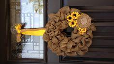 bing.com/urlap wreaths | Wedding Ideas / burlap & sunflowers