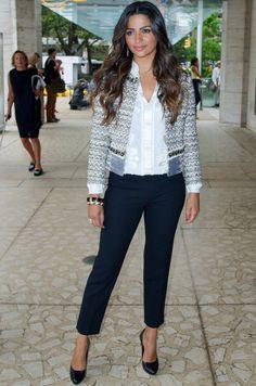 Chaqueta y pantalón para tallas grandes. Vestuario profesional y juvenil.  Camila Alves