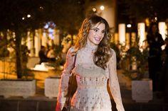 August 31, 2016..♔♛Queen Rania of Jordan♔♛...Amman Design Week at Ras Al Ain Gallery and Hangar Amman