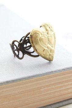 Heart Locket Ring Romantic