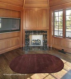 Home Comfort Plain Choco Oval Wool Rug Oval Rugs, Empty Room, Home Comforts, Wool Rug, Interior, Home Decor, Decoration Home, Indoor, Room Decor