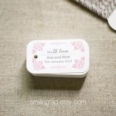 Vintage Inspired Personalized Gift Tags Wedding by SmilingTag