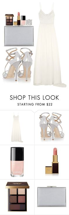 """""""Untitled #3117"""" by abigailtaylor ❤ liked on Polyvore featuring Temperley London, Jimmy Choo, Chanel, Tom Ford, Bobbi Brown Cosmetics, Aspinal of London and Aurélie Bidermann"""