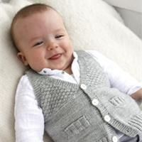Gilet sans manches pour bébé Modèle de tricot