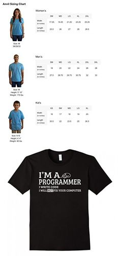 Men's  I'm A Programmer I Write Code I Will Not Fix Your Computer  2XL Black
