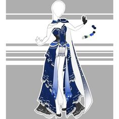 DeviantArt: More Like .::Outfit Adoptable by Scarlett-Knight Clothing Sketches, Dress Sketches, Dress Drawing, Drawing Clothes, Fashion Design Drawings, Fashion Sketches, Anime Outfits, Cool Outfits, Mode Kawaii